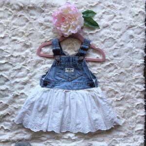 Girls OshKosh Jean Overall Dress
